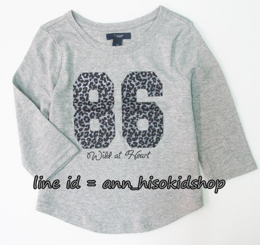 1866 Gap Kids Long Sleeve - Grey ขนาด 6-7 ปี