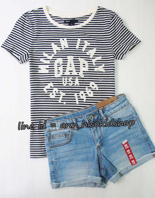SP027 Gap Kids T-Shirt + Zara KIds short jeans sz 8-10 ปี
