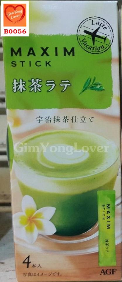 ชาเขียวแม็กซิมมัทฉะลาเต้ สำเร็จรูป 3in1 (MAXIM Stick Matcha Green Tea Latte)