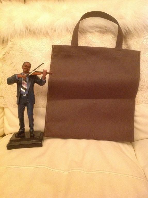 กระเป๋าผ้าสปันบอนด์สีม่วง Sawasdee service of mind