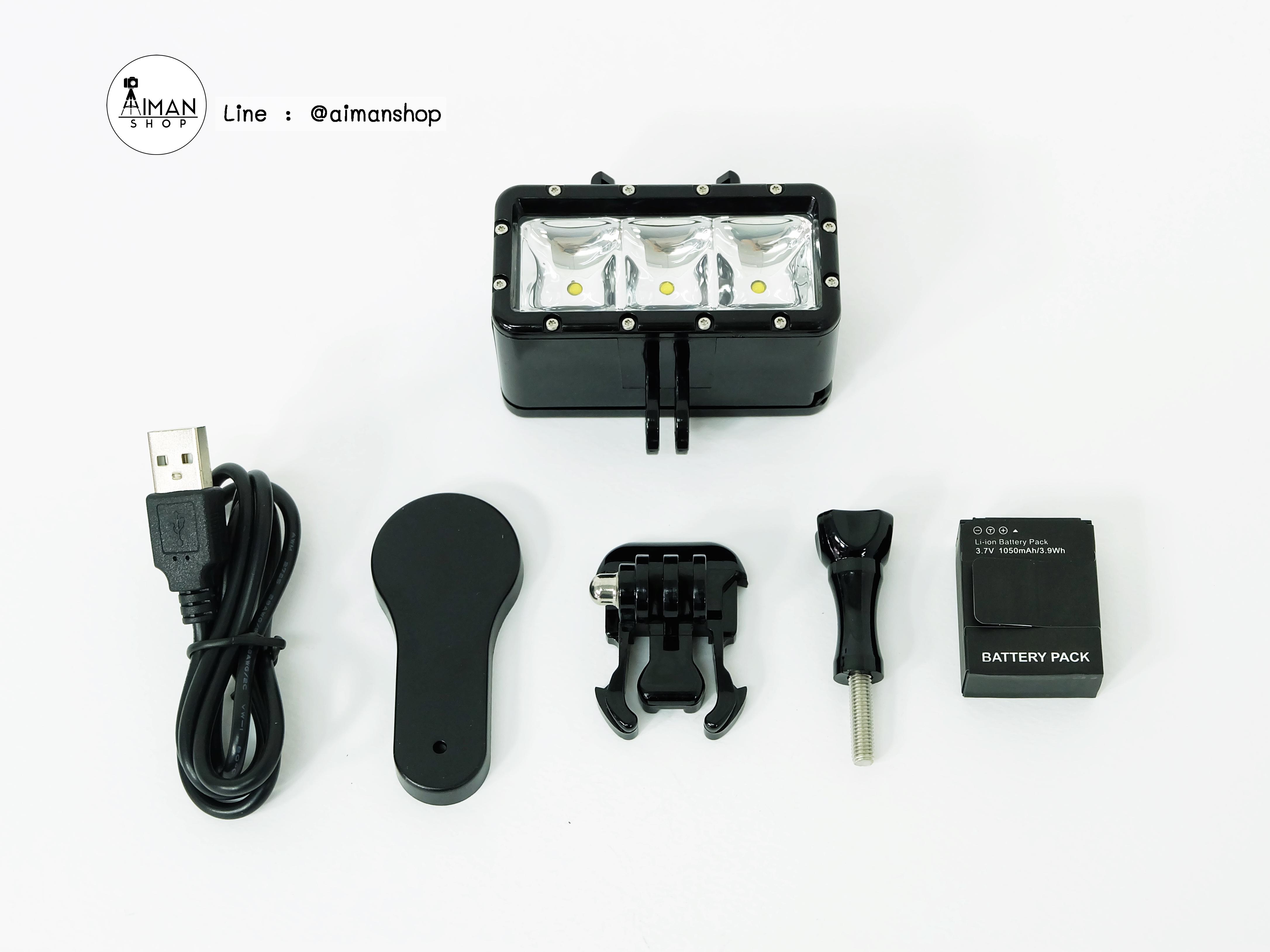 ไฟส่องใต้น้ำ - waterproof video light