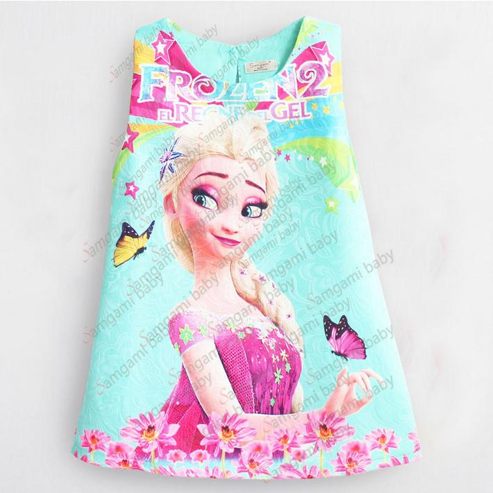 Frozen Elsa Dress Blue เดรสสาวน้อยแขนกุดสีฟ้า ลาย Elsa งานแบรนด์ SAMGAMI ใส่แล้วน่ารักมากๆค่ะ