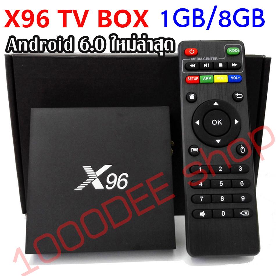 Android-Box-4K-X96- แรม 1GB / พื้นที่เก็บข้อมูล 8GB android 6.0 / 64Bit + Air mouse รุ่น T2