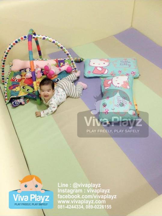 คอกกั้นเด็ก Viva Playz สี pastel