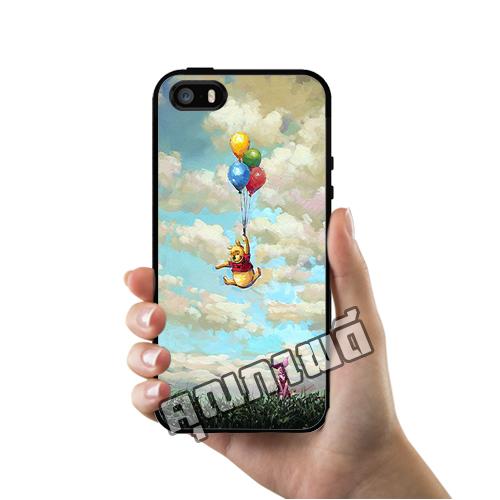 เคส ซัมซุง iPhone 5 5s SE หมีพูห์ ลูกโป่งลอย เคสน่ารักๆ เคสโทรศัพท์ เคสมือถือ #1064