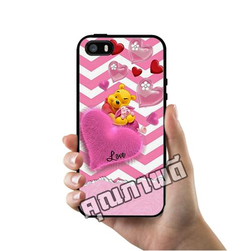 เคส ซัมซุง iPhone 5 5s SE หมีพูห์ พิกเล็ต หัวใจ เคสน่ารักๆ เคสโทรศัพท์ เคสมือถือ #1209