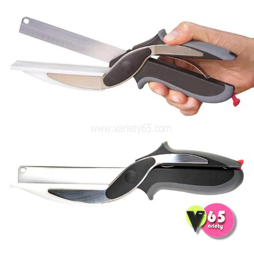 Clever Cutter 2-in-1 Knife & Cutting Board มีดกรรไกรแบบมีเขียง (ขายดี)