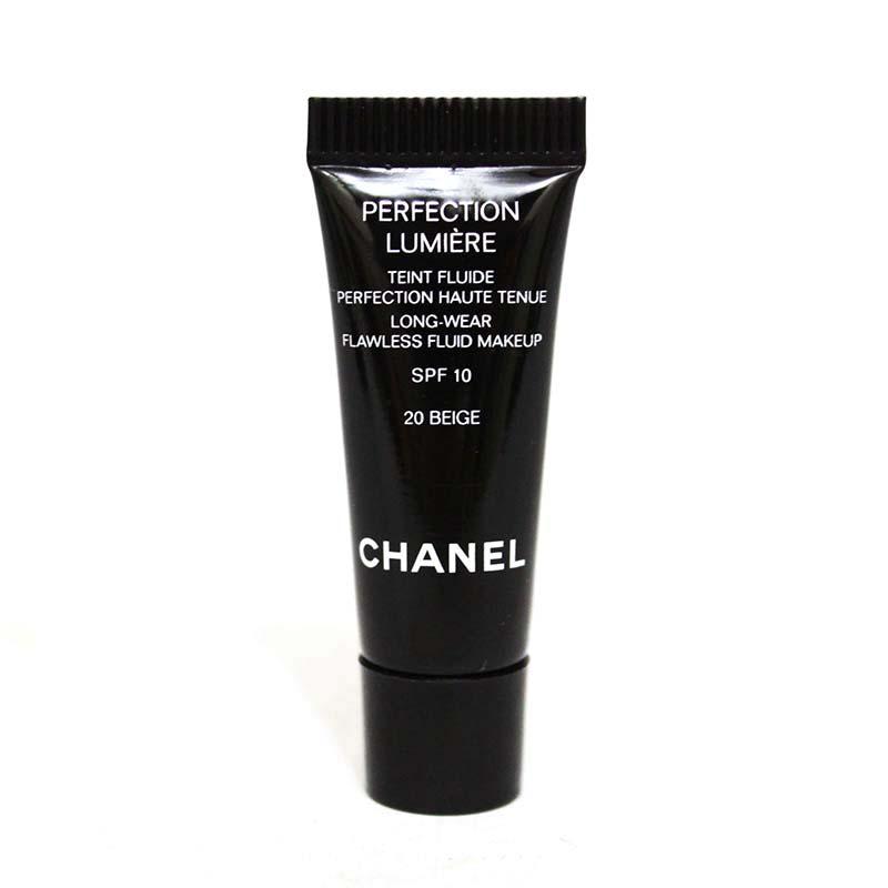 *TESTER* Chanel Perfection Lumiere Long-Wear Flawless Fluid Makeup SPF10 2.5ml #20 Beige