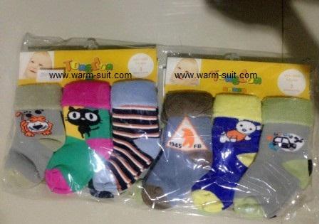 ถุงเท้าไหมพรมขนกระต่าย สำหรับเด็กเล็ก 1