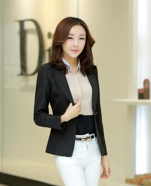เสื้อสูทแฟชั่นผู้หญิง ใส่ทำงาน แบบสวย สีดำ