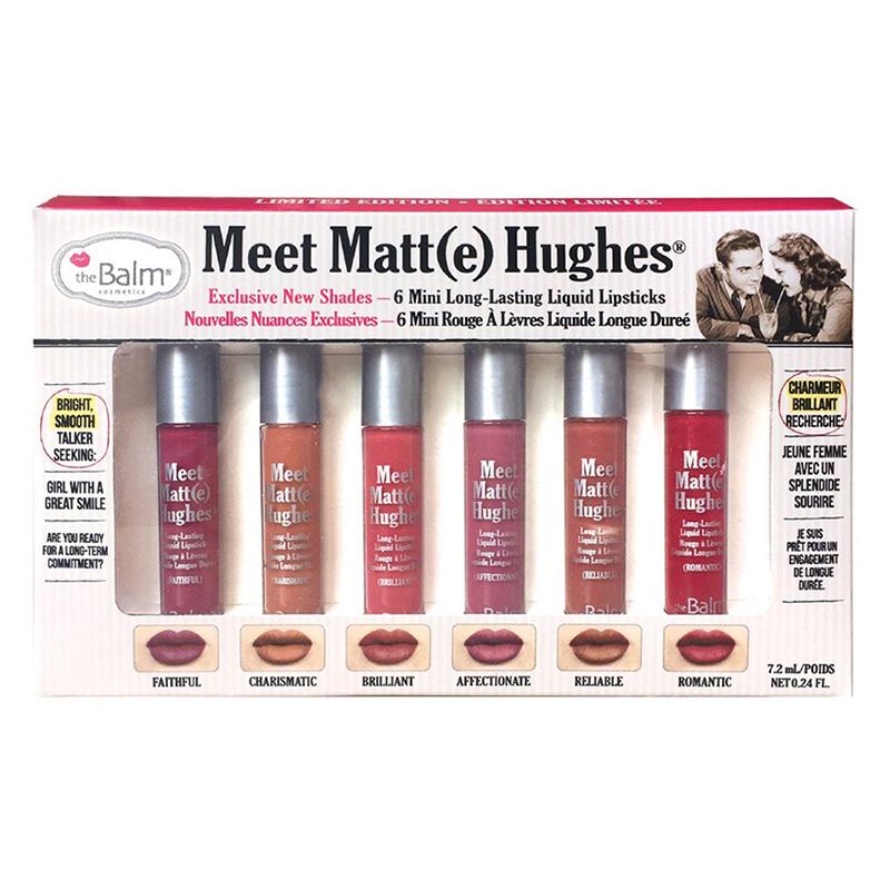 The Balm Meet Matte Hughes (Exclusive New Shades) 6 Mini Long-Lasting Liquid Lipsticks