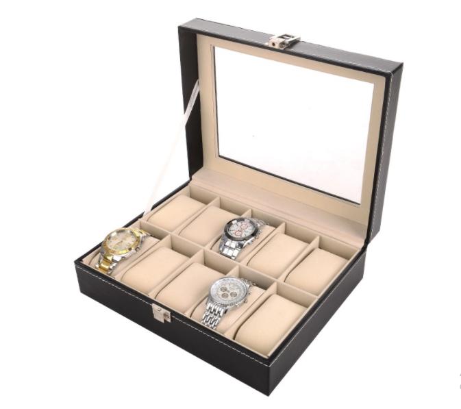 กล่องเก็บนาฬิกาข้อมือใส่ได้ 10 เรือน
