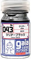 gaia 043 Clear Black 15ml.