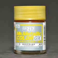 (เหลือ 1 ชิ้น รอเมล์ฉบับที่2 ยืนยัน ก่อนโอน) GX-217 Mr.metalic GX rough gold 18ml.