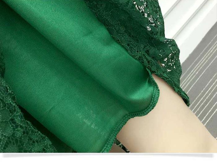 ชุดเดรสสั้นผ้าลายลูกไม้สวยๆ ชุดกระโปรงลูกไม้ แฟชั่นเซ็กซี่ มีสีขาว สีดำ สีเขียว แขน 3 ส่วน คอวี มีซับใน ใส่เที่ยว ใส่ออกงาน เดรสลูกไม้ ส่งฟรี EMS ส่งฟรี EMS เนื้อผ้าลูกไม้ Lace คณภาพดี ผ้ามีน้ำหนัก ทิ้งตัว งานนำเข้า 100% เหมือนแบบ คุณภาพดีแน่นอนค่ะ