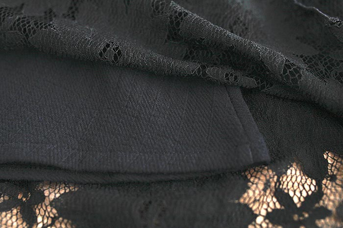 ชุดเดรสสั้นผ้าลายลูกไม้สวยๆ ชุดกระโปรงลูกไม้ น่ารัก แฟชั่นสไตล์เกาหลี เก๋ๆ มีสีดำ เดรสลูกไม้ ส่งฟรี EMS ส่งฟรี EMS แขนยาว คอกลม มีซับใน ใส่เที่ยว ใส่ชิว สวยๆ