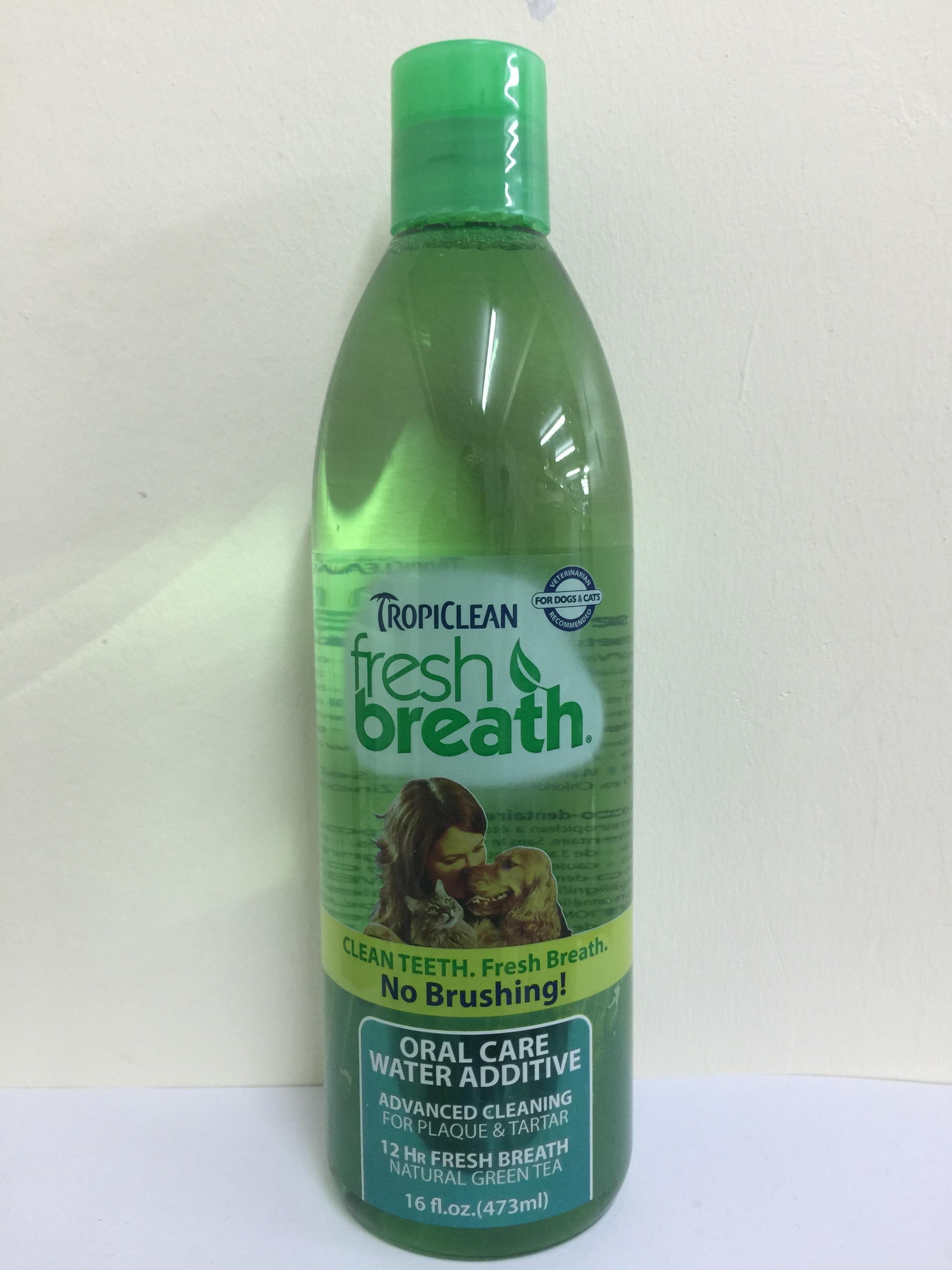 Tropiclean fresh breath Water Additive ผลิตภัณฑ์ผสมน้ำลดกลิ่นปาก 16 fl oz