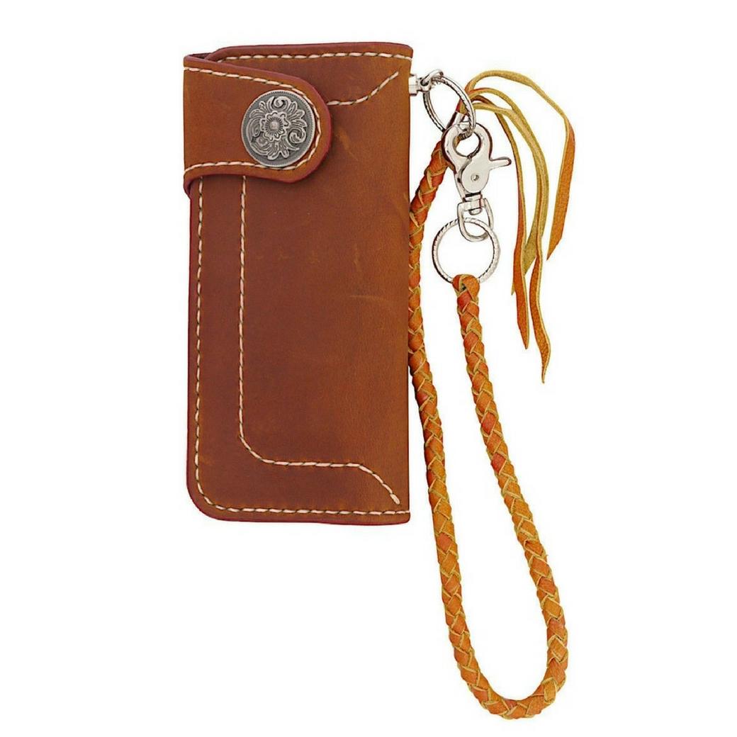 กระเป๋าสตางค์ผู้ชาย กระเป๋าใส่บัตร เป็นกระเป๋าหนังแท้เย็บด้วยมือ เหมาะสำหรับผู้ชายเท่ห์ แนว Bilker + วินเทจ