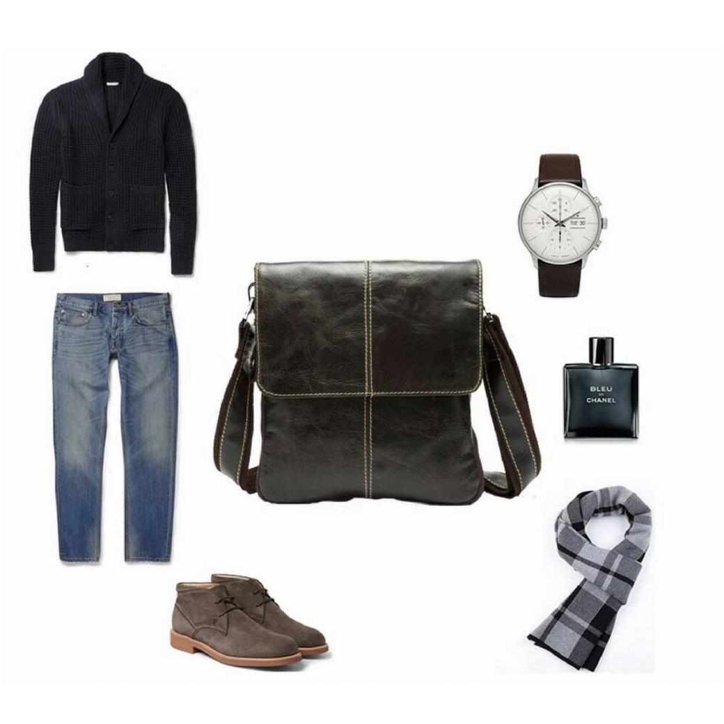 กระเป๋าสะพายข้าง ผู้ชาย เป็นกระเป๋าหนังแท้ ขนาดพอดีกับไอแพท เหมาะสำหรับทุกเพศทุกวัย พกพาสะดวกเวลาไปไหนมาไหน