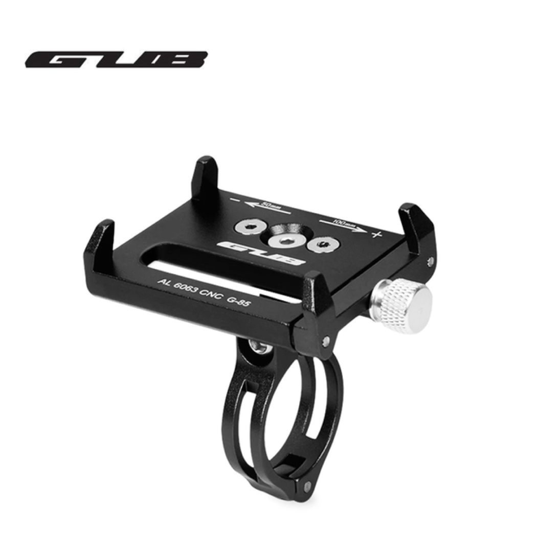 GUB G-85 สีดำ Aluminum Alloy Bicycle Handlebar Bike Phone Mount Cycling Holder Stand