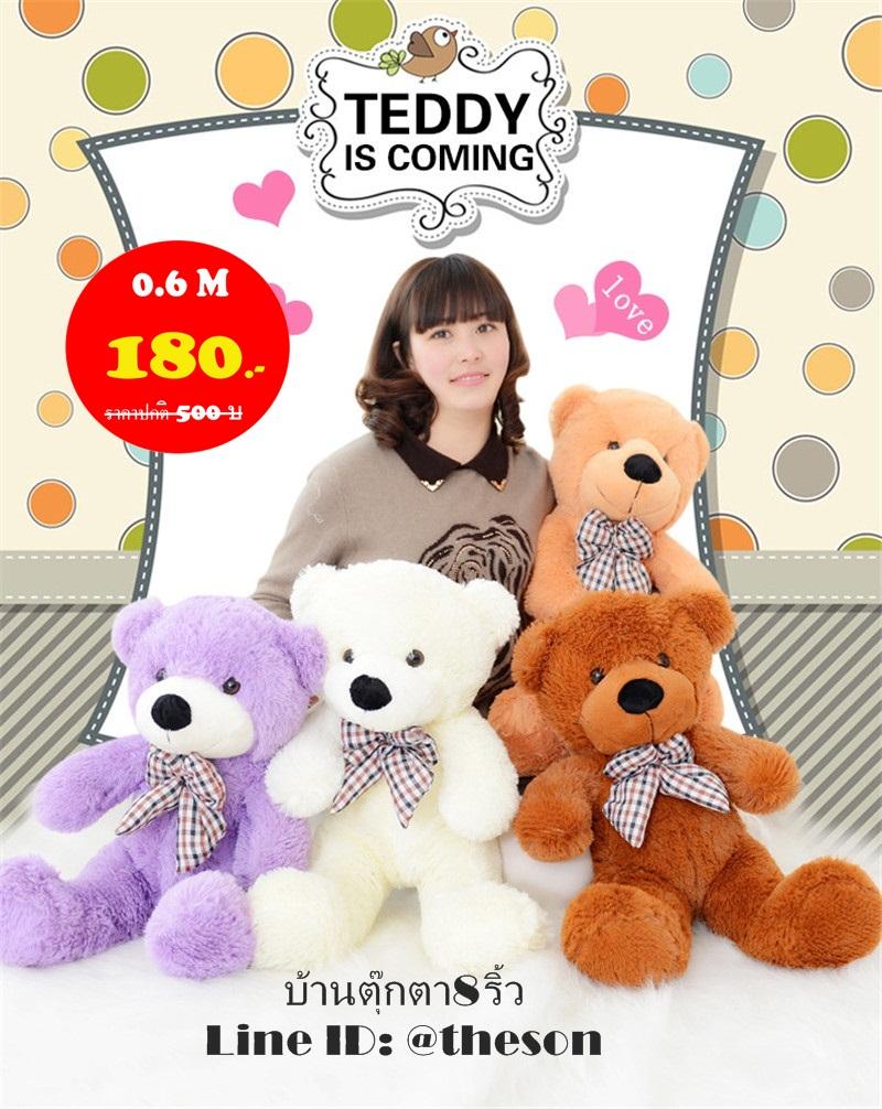 ตุ๊กตาหมียิ้ม ขนาด 0.6 เมตร