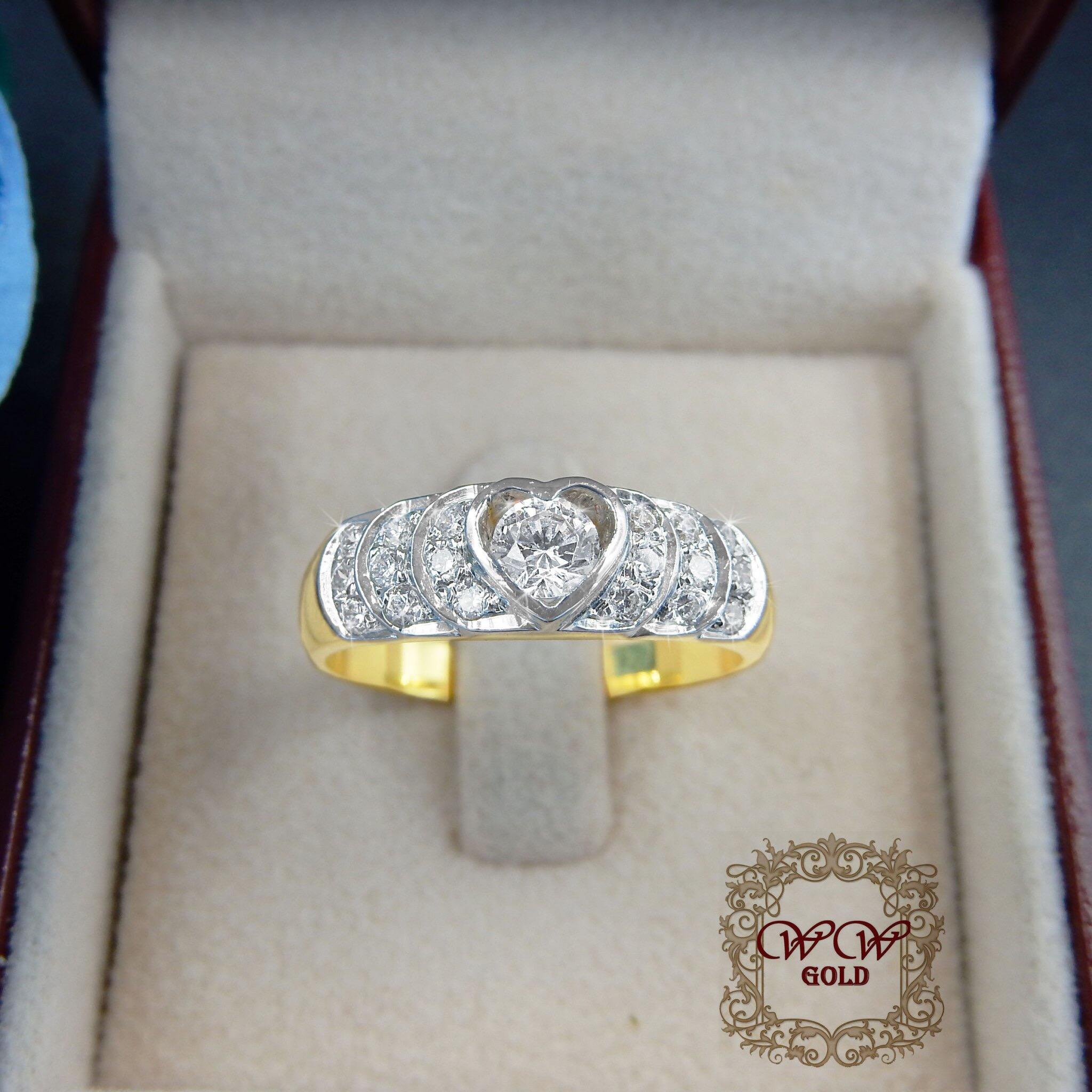แหวนเพชรแท้เบลเยี่ยม (ห้วใจ)