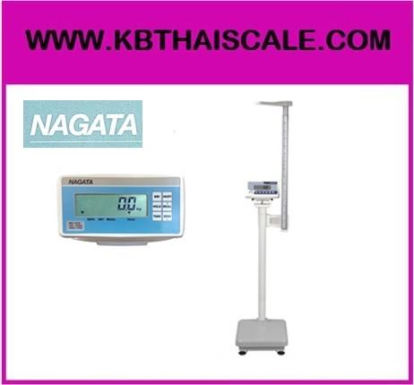 ตาชั่งน้ำหนักคน เครื่องชั่งน้ำหนักบุคคล เครื่องชั่งดิจิตอลพร้อมชุดวัดส่วนสูงพร้อม BMI คำนวณค่าดัชนีมวลกาย (Body Mass Index) พิกัดกำลัง 250 kg และชุดวัดส่วนสูง 77 - 210 cm NAGATA รุ่น BW-1410H