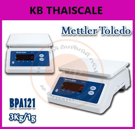 เครื่องชั่งกันน้ำ แบบตั้งโต๊ะ เครื่องชั่งน้ำหนักดิจิตอล แบบกันน้ำได้ 3 โล ความละเอียด 1 กรัม รุ่น BPA121ยี่ห้อ Mettler Toledo