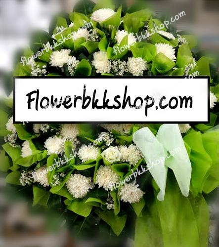 พวงหรีดดอกไม้สด รหัส WWR16