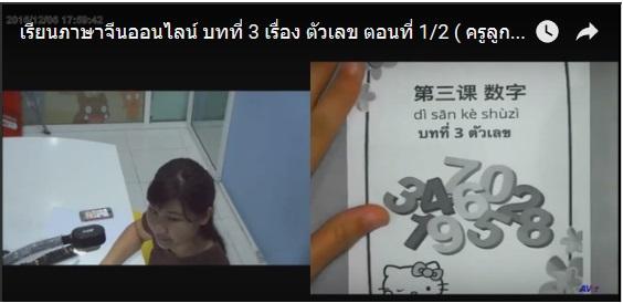 เรียนภาษาจีนออนไลน์ (ครูลูกน้ำ) เล่ม 1 บทที่ 3 เรื่อง ตัวเลข ตอนที่ 1/2