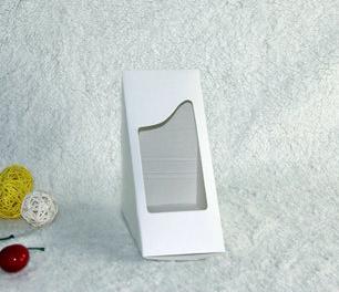 กล่องใส่แซนวิช กระดาษขาว 10 กล่อง BAKE169