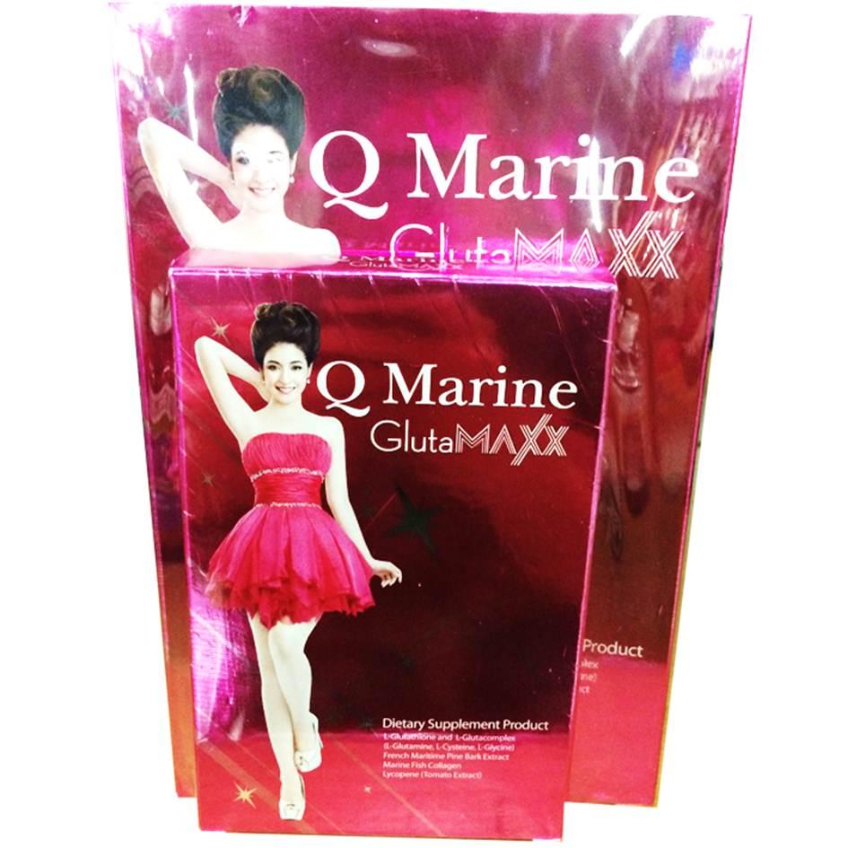Q Marine Gluta Maxx 30 เม็ด/กล่อง (แพ็คคู่ 2 กล่อง) แถมฟรีคิว มารีน กลูต้า 10 เม็ด