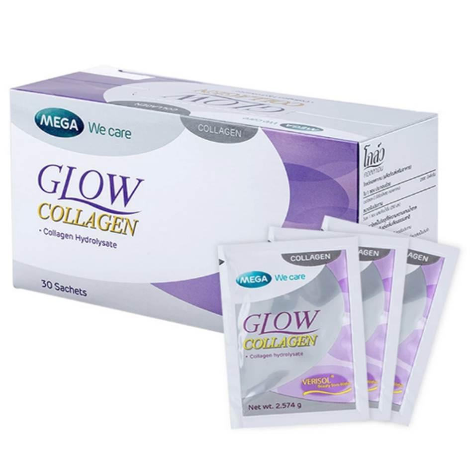 Mega We Care Glow Collagen 30 ซอง ลดริ้วรอยได้อย่างชัดเจน
