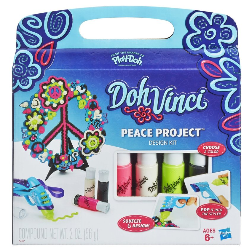 Play-Doh แป้งโดว์ DohVinci Peace Project Design Kit - Blue