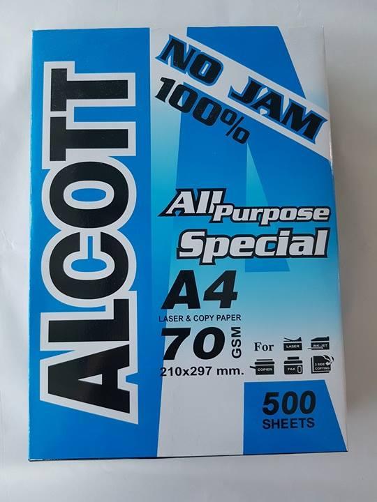 กระดาษถ่ายเอกสาร ALCOTT A4 70g Pro ฟ้า ดำ