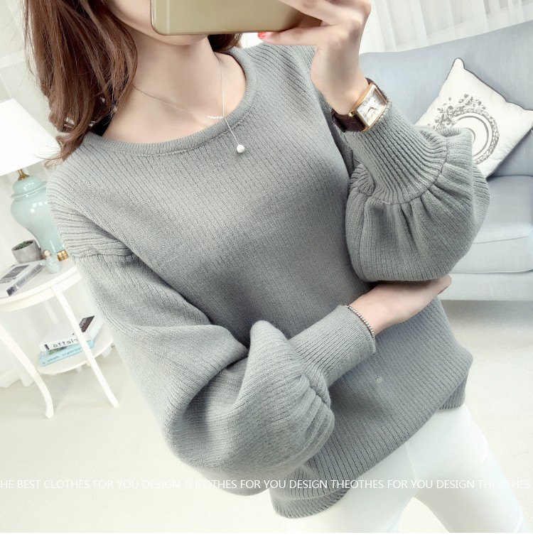 Loose lantarn sweater (สีเทา)