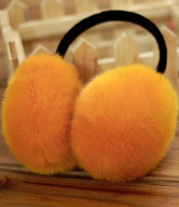 Furry Earmuffs ที่ปิดหูกันหนาว (สีส้ม)