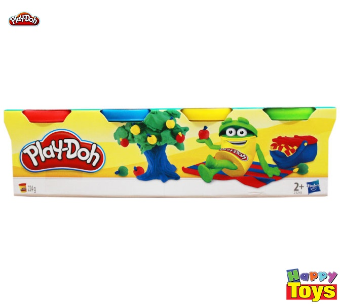 PLAY-DOH เพลย์โด แป้งโดเซต 4 กระปุก 224 g.