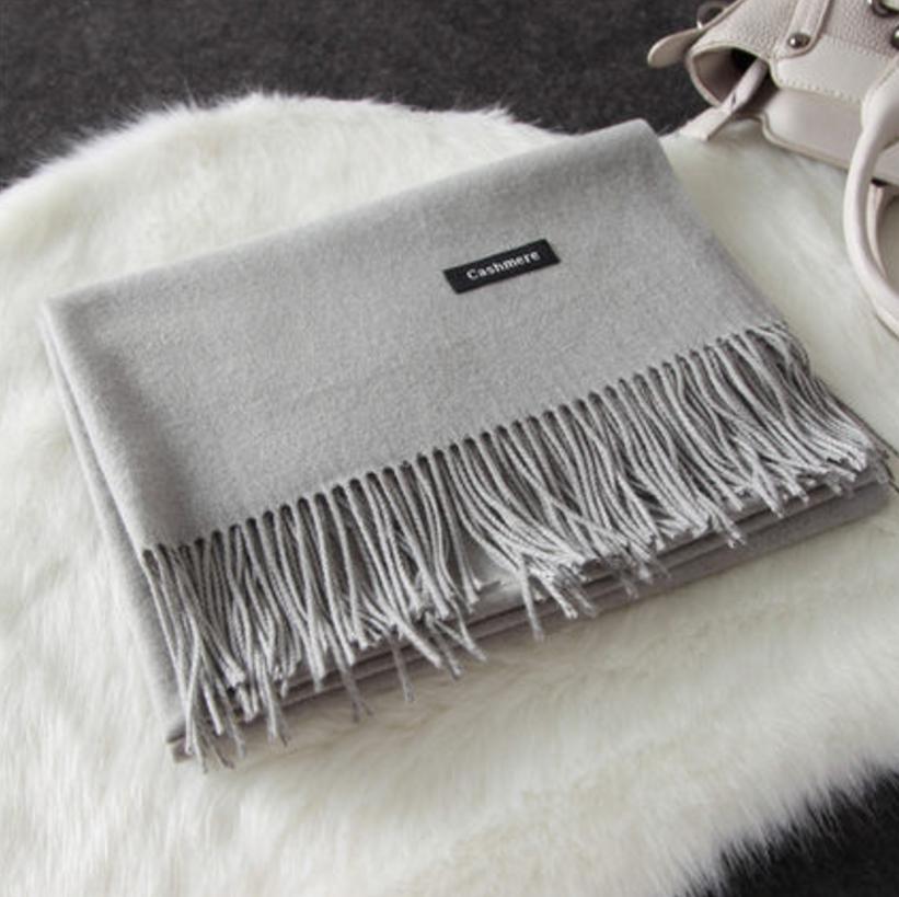 Imitation cashmere scarft ผ้าพันคอ (สีเทา)