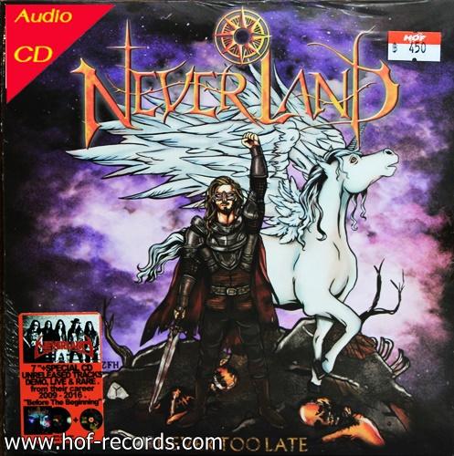 แผ่นเสียง 7 นิ้ว 2 เพลง +Cd concert Neverland - never too late (malodic power Thai Band )* New