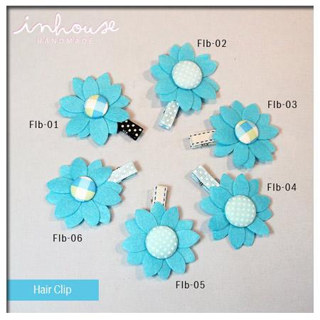 กิ๊บติดผมเด็ก Hair Clip : Blue Flower
