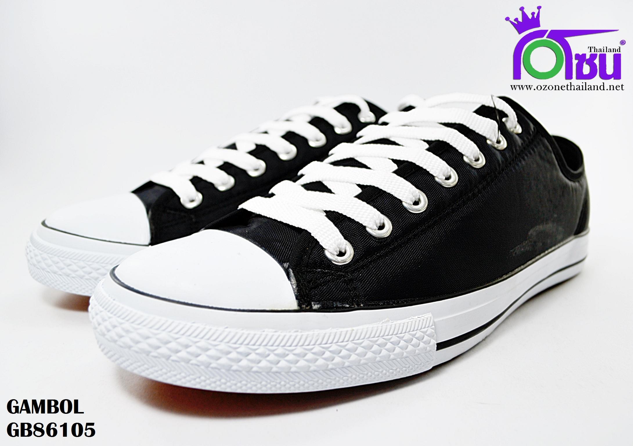 รองเท้าผ้าใบ GAMBOL แกมโบล BG86105 สี ดำ