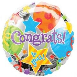 ลูกโป่งฟลอย์นำเข้า Congrats Jubilee / Item No. AG-07694 แบรนด์ Anagram ของแท้