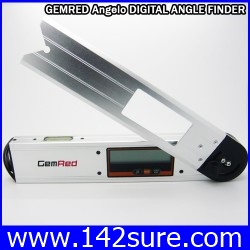 MSD005 เครื่องมือวัดองศา 360องศา พร้อมระดับน้ำ2ระดับ ขนาด10นิ้ว GEMRED Angelo DIGITAL ANGLE FINDER PROTRACTOR LEVEL ยี่ห้อ GemRed รุ่น