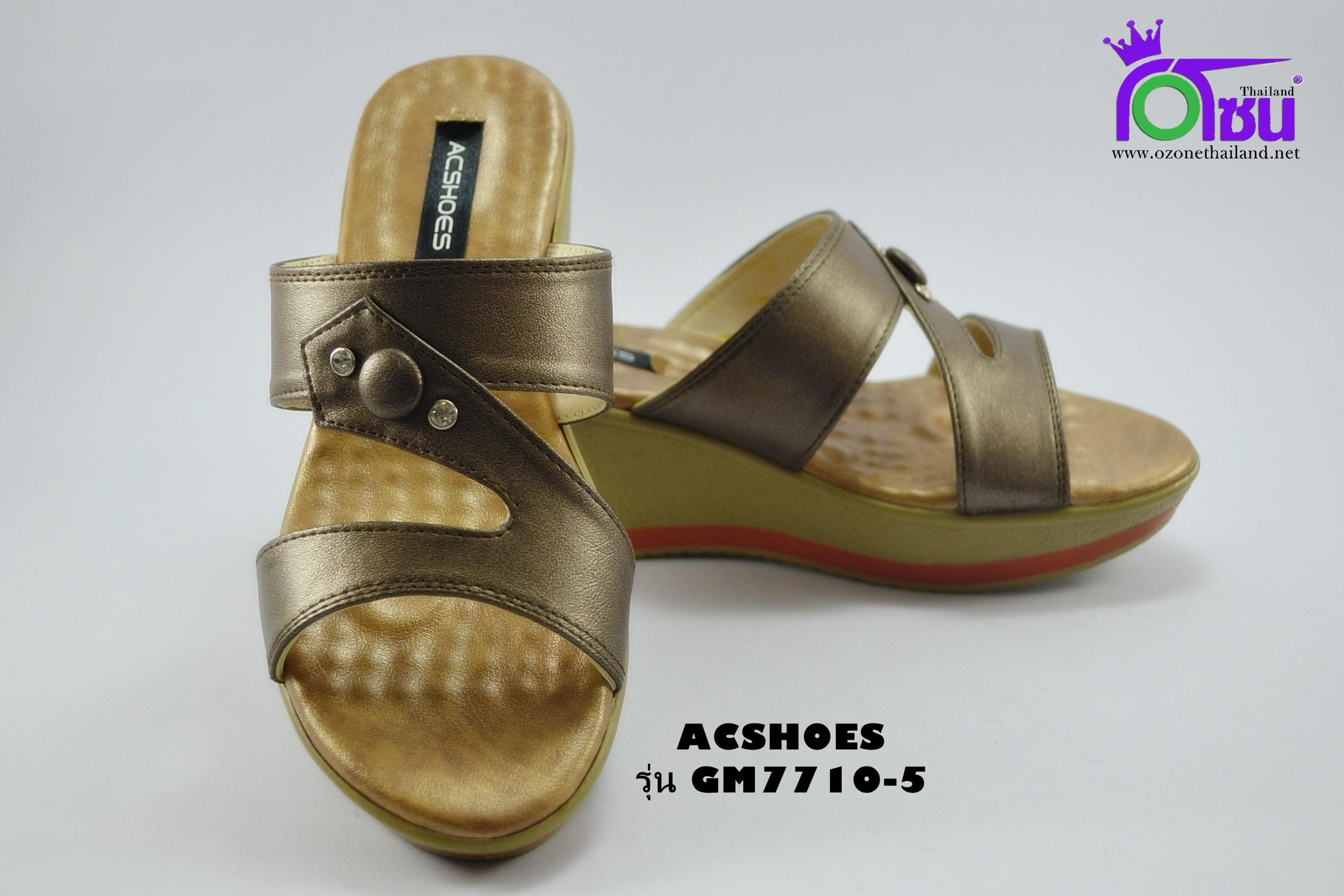 รองเท้าแฟชั่น (PU)หญิง รุ่นGM7710-5 เบอร์ 36-40 สีเทา