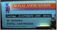 ลูกกระสุน 11มม.(.45) LSWC Royal