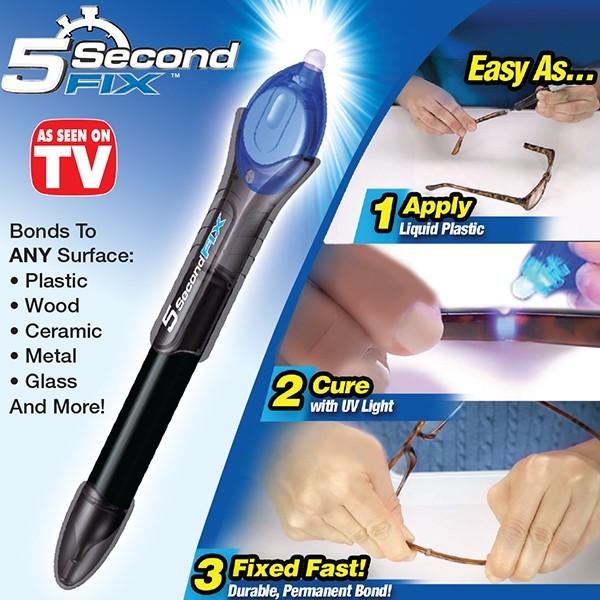 5 Second FIX กาวฉายแสงแล้วติดทันที กาวยูวี กาวเอนกประสงค์ ทำให้การซ่อมแซมสิ่งของของคุณเป็นกลายเรื่องง่ายดายตลอดไป