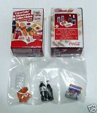 COCA COLA Minitaure Convenience Store DRINK FOOD set 4
