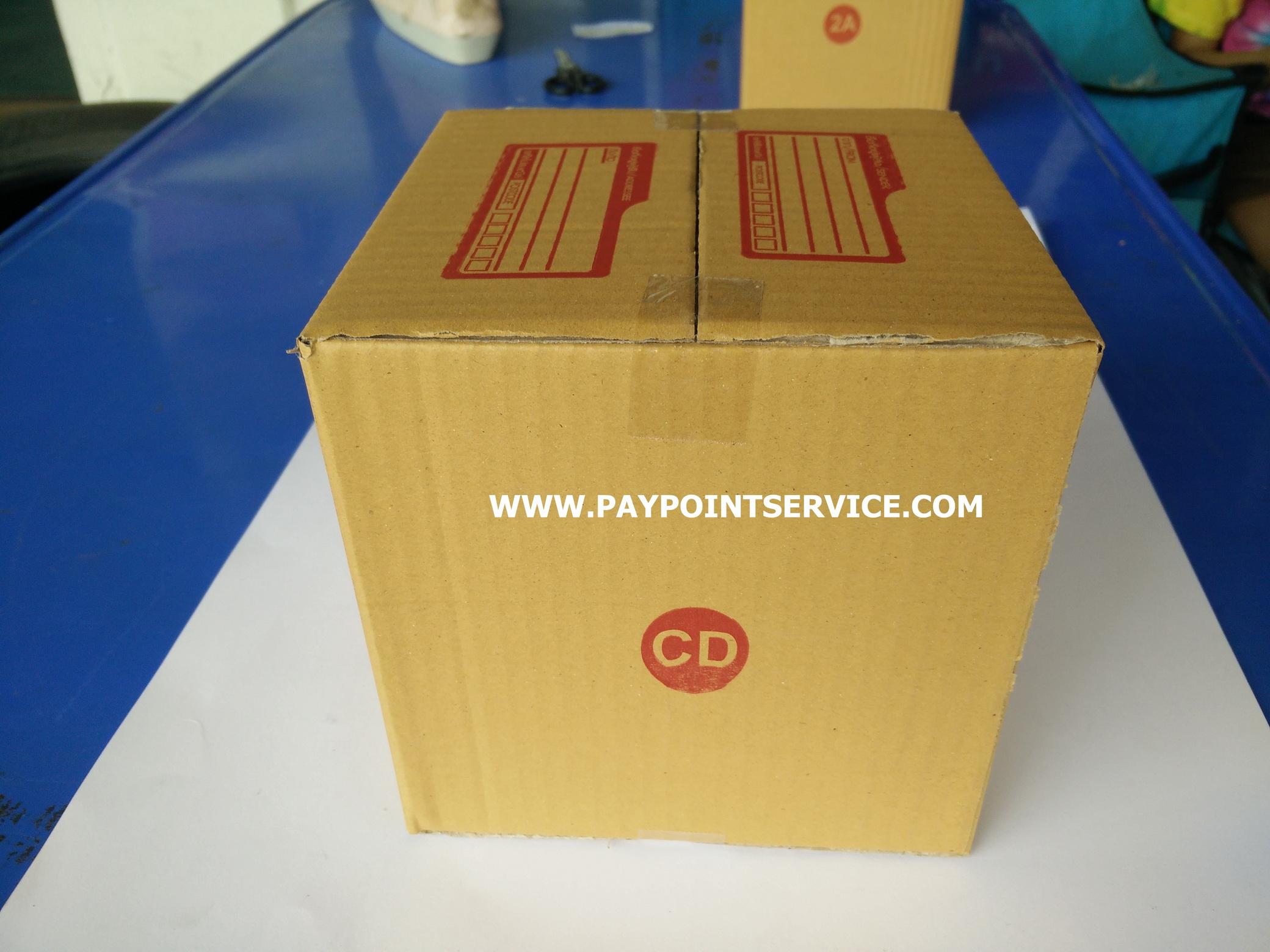 กล่องไปรษณีย์ฝาชน เบอร์ CD ขนาด 15x15x15 เซนติเมตร