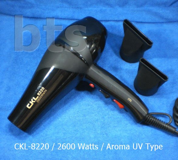 ไดร์เป่าผมขนาดใหญ่ ไฟ 2600 วัตต์ CKL 8220 UV Aroma